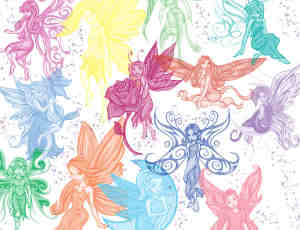 漂亮的小妖精、精灵PS笔刷素材下载