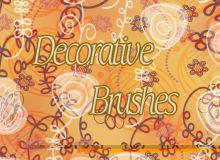 装饰性手绘植物花朵图形PS笔刷下载
