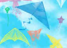 各种造型的风筝图形PS笔刷下载