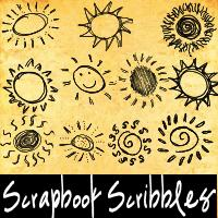 13种手绘童趣太阳图案PS笔刷下载(PNG图片下载)