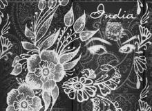 漂亮的石刻印花、花纹图案Photoshop笔刷素材