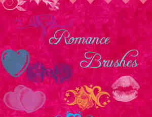浪漫性感情人节Photoshop装饰笔刷素材下载