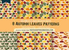 8种树叶背景底纹填充PS填充图案素材