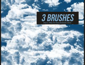 天空云朵、云层效果Photoshop笔刷