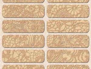 24种无缝金边植物花纹图案PS填充背景(JPG格式素材)