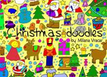 圣诞节卡通涂鸦包Photoshop笔刷素材下载