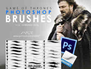 游戏数字艺术CG插画创作Photoshop笔刷套装