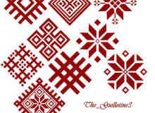 圣诞节雪花图案花纹PS笔刷下载