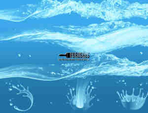 水面、水花Photoshop水效果笔刷