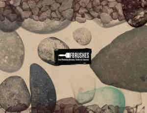 石头、石块、鹅卵石、碎石PS笔刷下载