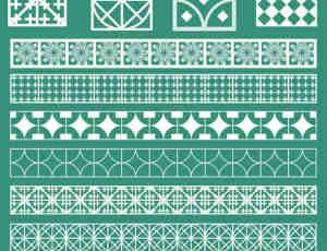 瓷砖花纹图案PS笔刷下载