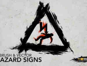 12个危险信号标识、标志PS笔刷下载