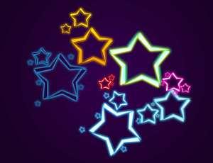 梦幻星星组合图形PS笔刷下载