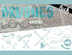 51种箭头符号涂鸦标志Photoshop笔刷下载