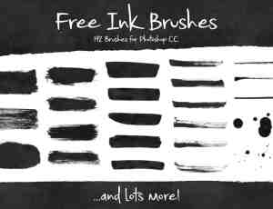 192种免费的油墨、墨水、水墨效果涂痕Photoshop笔刷