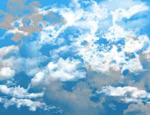 蔚蓝天空和白云效果PS笔刷下载