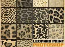 豹纹、虎纹、斑点纹理的动物皮毛Photoshop笔刷下载