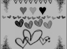 卡哇伊手绘涂鸦爱心PS情人节美图笔刷