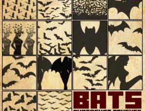 蝙蝠、蝙蝠群PS笔刷下载