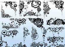 30个非主流时尚艺术边框、潮流边界PS笔刷下载