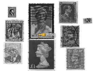 国外真实邮票PS笔刷素材下载