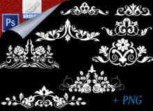 古典植物花纹、贵族印花图案Photoshop笔刷下载