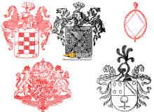 欧式图案徽章纹理图案PS笔刷下载