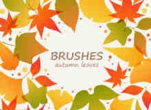 秋天落叶、树叶Photoshop笔刷素材下载