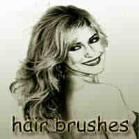 女式烫发、长发、头发Photoshop笔刷