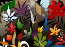 植物花纹、手绘树叶图案Photoshop笔刷下载