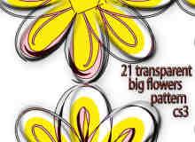 21半透明大花纹、花朵图案PS背景填充素材.pat下载