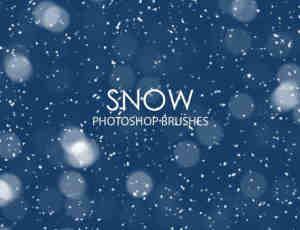 漫天雪花、下雪Photoshop飘雪笔刷