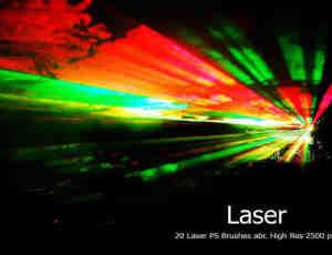 20种激光、镭射灯光舞台效果Photoshop光线笔刷