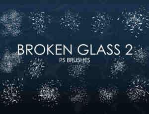 15个高质量玻璃碎片、玻璃渣子、破碎PS笔刷下载