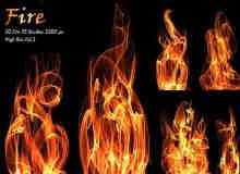 20种高品质火焰、火苗燃烧特效PS火焰光影素材笔刷