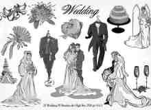 20种婚礼元素装扮图形PS笔刷下载 #.3