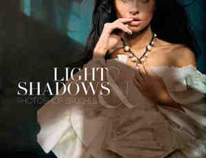 窗户光线、人体影子、阴影灯光效果PS高级光线笔刷下载