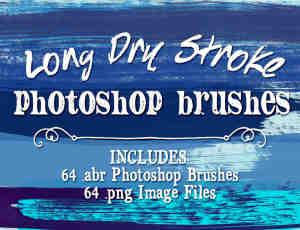 64种超大高清油漆刷子涂痕、划痕Photoshop刷子笔记素材下载(含CS5+CS6版本)