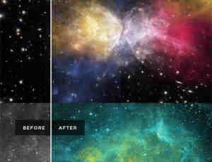 高品质宇宙星云图、浩瀚星系背景Photoshop宇宙笔刷