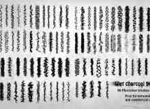 90种湿掉化开的碳素笔纹理、水墨笔触PS笔刷下载