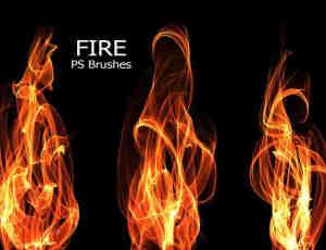 又来一组高清火焰效果、火苗燃烧Photoshop高清笔刷下载