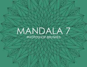 花式棱角、凌锥Mandala图案PS笔刷下载