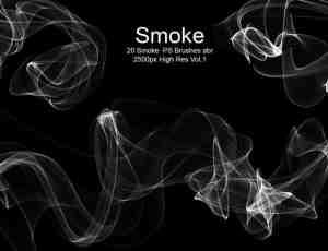 20清影流烟、炫动光影、烟气、烟雾效果PS笔刷下载