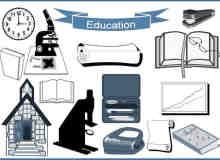 20种学习元素、学校相关图形Photoshop笔刷下载