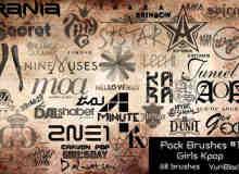 韩国流行音乐乐队图形元素PS笔刷下载