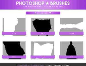撕纸边缘、撕裂效果Photoshop剪贴蒙版笔刷素材