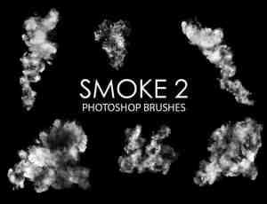 包含15个高质量的烟雾效果Photoshop浓烟笔刷