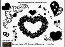 花式爱心装饰图形Photoshop情人节爱情笔刷