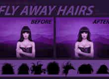 女性发型、发饰、头饰、头发造型PS长发笔刷
