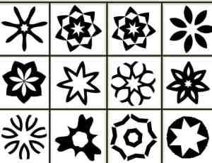 12个免费的星型、菱形形状Photoshop CS2自定义形状素材 .csh 下载